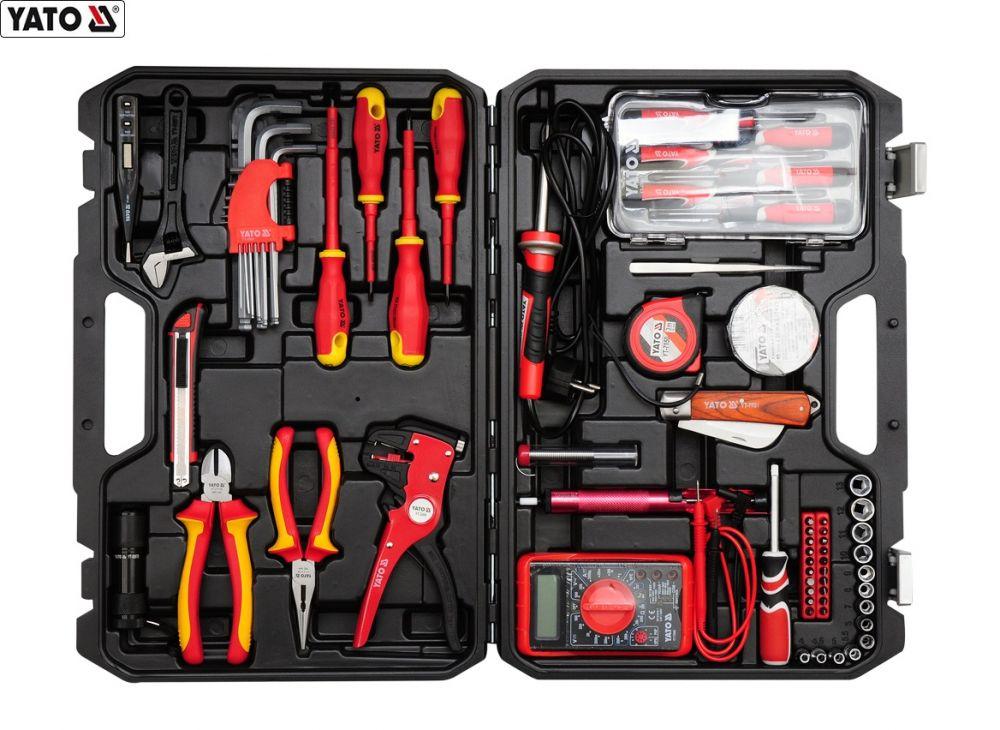 yato elektriker werkzeug set 68 teilig elektrowerkzeuge sortiment werkzeugkoffer ebay. Black Bedroom Furniture Sets. Home Design Ideas
