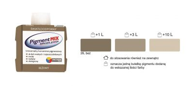 PIGMENT MIX KOLOR BEŻOWY INCHEM