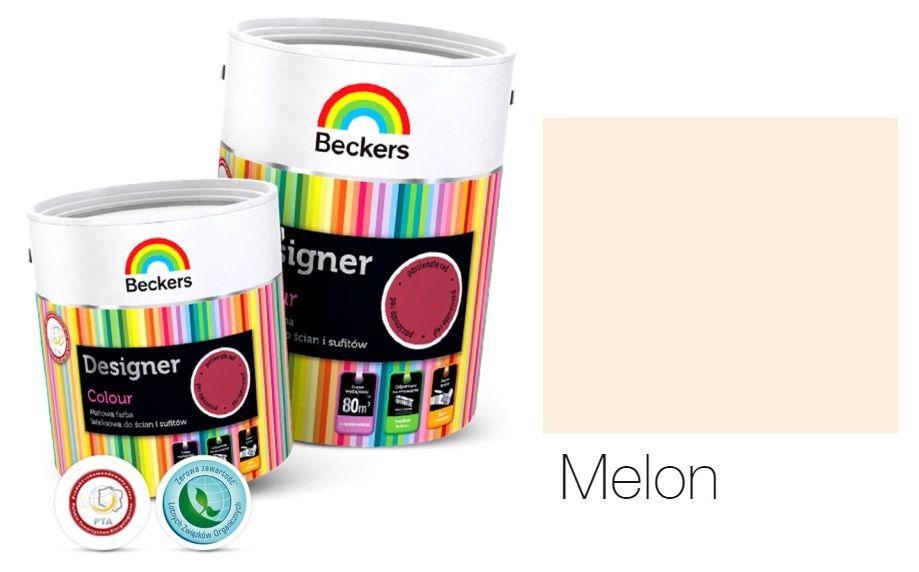 Farby Do ścian Wewnętrzna Kolor Melon Beckers Designer