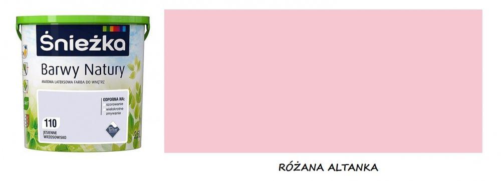 Lateksowa Farba Do Wnętrz Matowa Kolor 132 Różana Altanka śnieżka